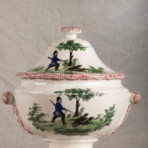Rara zuppiera da collezione, ceramica popolare