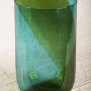 TAPIO WIRKKALA COREANI VASE FOR VENINI Green to blue spiral