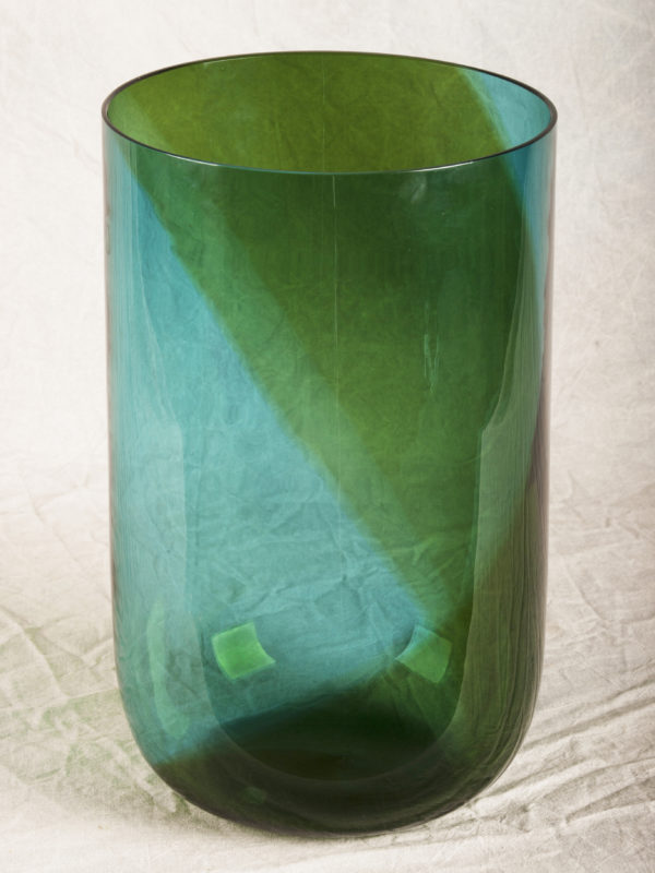TAPIO WIRKKALA COREANI VASE FOR VENINI Green to blue spiral