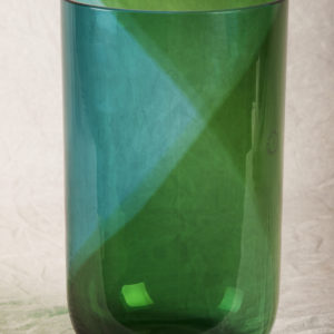 Spiral blu green spiral glass vase designed by Tapio Wirkkala for Venini