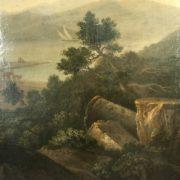 Dettagli paesaggio con rovine classiche ambito Lorrain