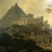 Paesaggio con rovine classiche ambito Lorrain