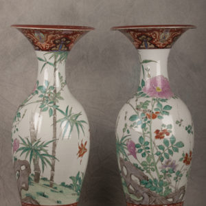Pair of Japanese vases 19th century