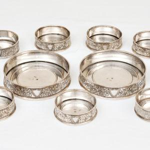 sottobicchieri in argento Luigi Merlo