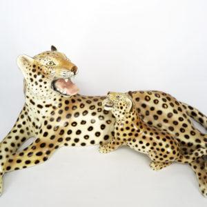 900_ceramica_statuina_Ronzan_leopardo_mamma_cucciolo