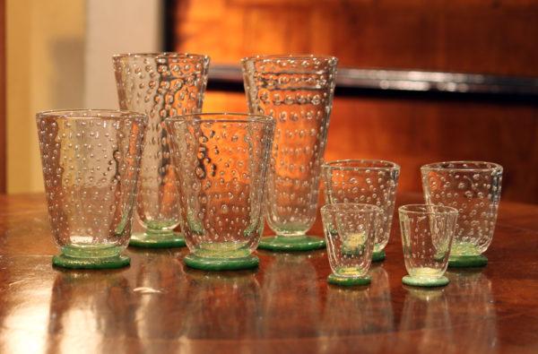 servizio di bicchieri vetro bullicante