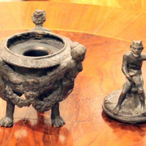 calamaio in bronzo del 1800