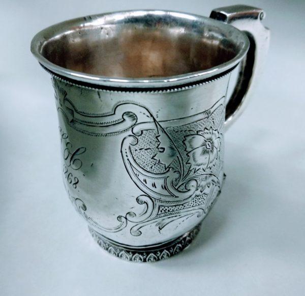 boccale d'argento 1868 usa