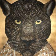 arte-contemporanea-manù-brunello-opera-gioiello-pantera-foglia-oro