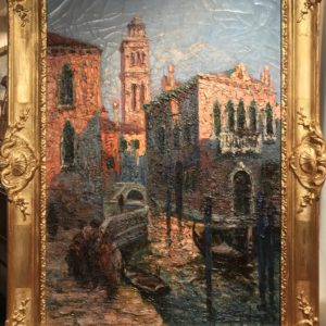 900-Italo-Giordani-Venezia-Canale-Veneziano-Novecento-dipinto-painting