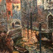 900-Italo-Giordani-pittore-Venezia-Venice-Canale-Veneziano-dipinto-painting (2)